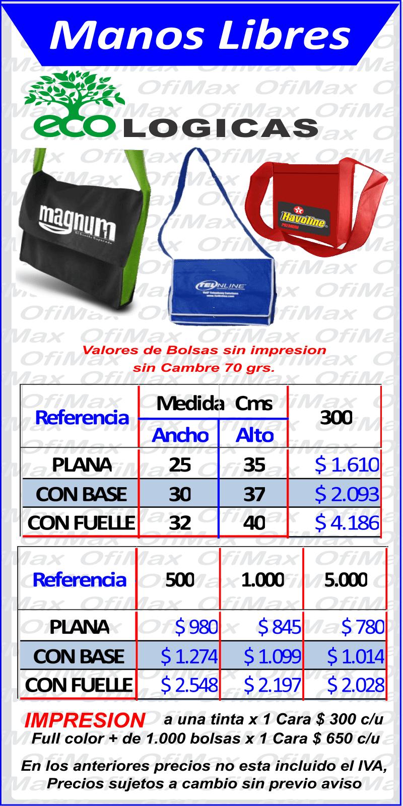 d8e66fe3f ... colombia bolsas de tela ecologicas manos libres, bogota, colombia