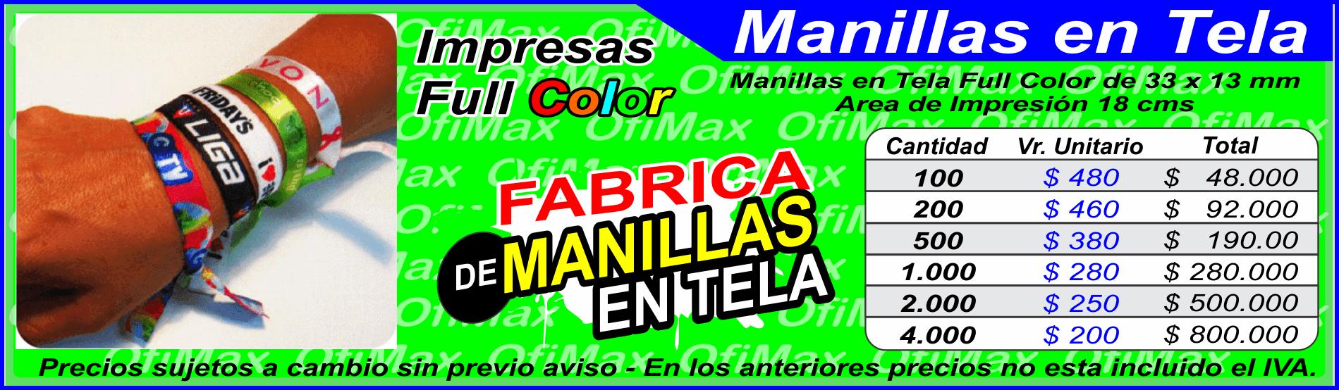 diseño atemporal dc5ea 83c49 Manillas en tela, Brazaletes y manillas publicitarias en ...